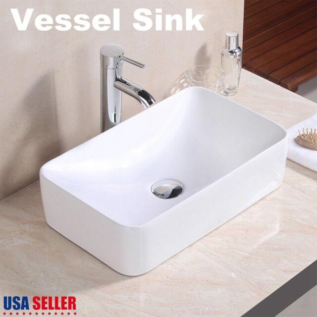 Bathroom Porcelain Ceramic Vessel Sink Bowl Vanity Basin Up Drain Combo For Sale Online Ebay