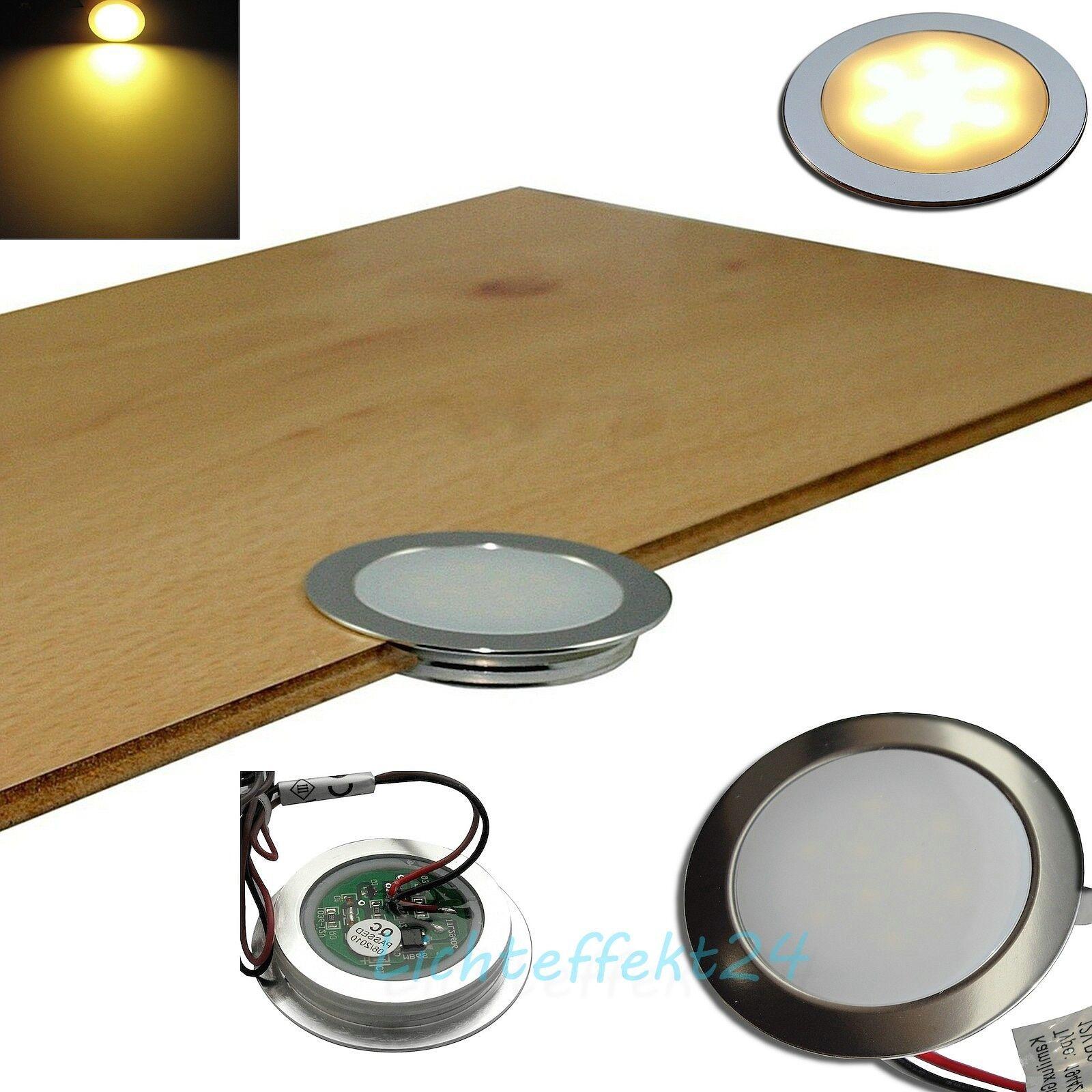1- 10er Sets flache LED Einbaulampen   Bodenstrahler   Wandleuchte   Bad   IP67