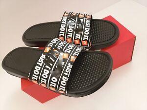 b543670855bd9d Nike Benassi JDI Print Just Do It Sport Slides Sandals 631261-016 ...