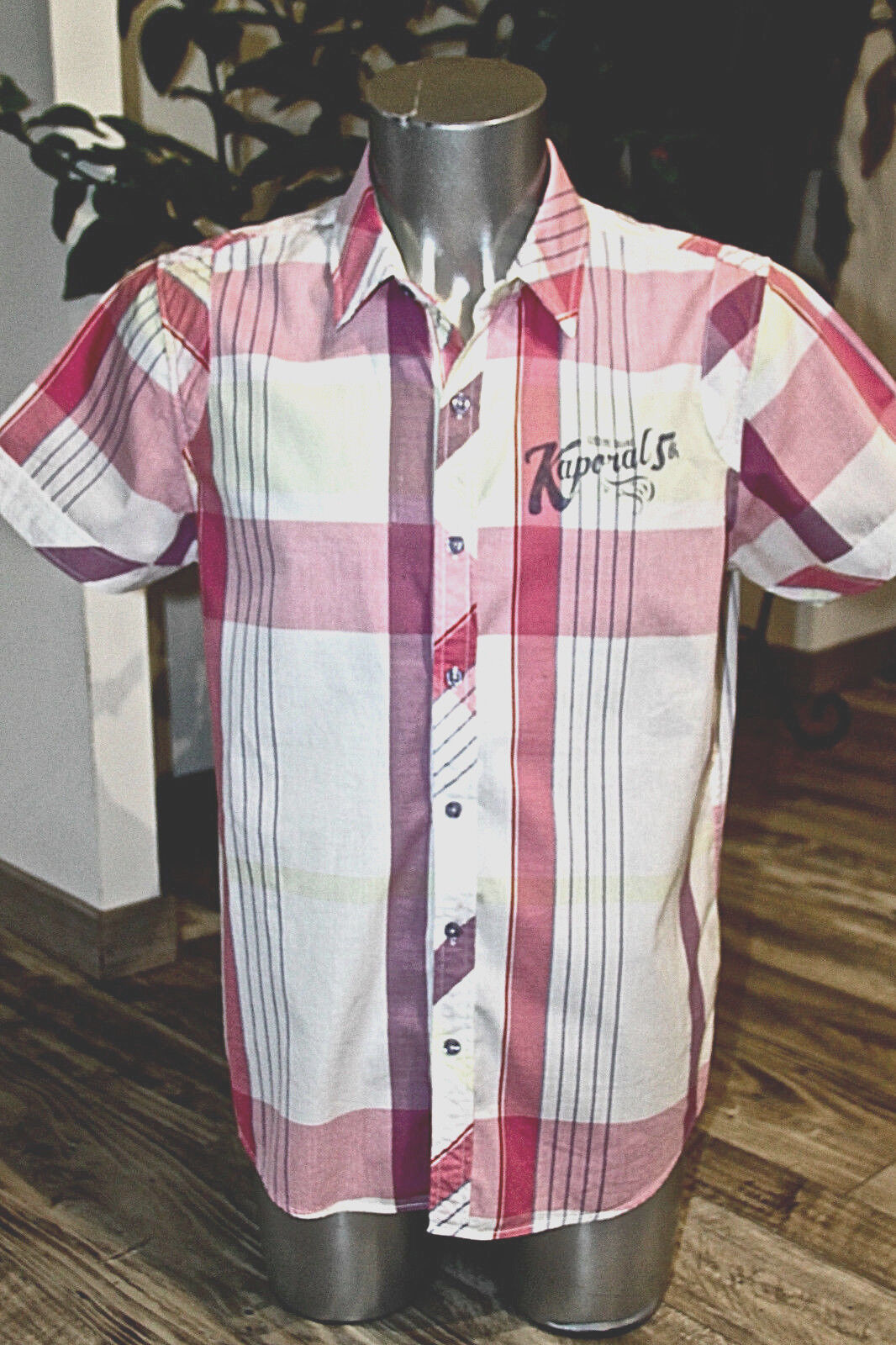 Pretty shirt pink short sleeves man KAPORAL M4 zorro size L mint