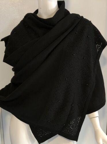 Fancy Neckerchief Women Warm Winter Fashion Knit Neck Shawl Wrap Black New Gift