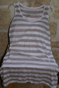 pretty nice 8d87b a917a Details zu LAUREN VIDAL Tunika Longshirt ohne Arm creme sand Gr. 38 / S NEU