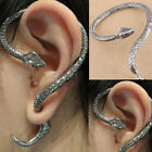 Snake Punk Gothic WILD Excellent Temptation Silver Ear Stud Cuff Earrings