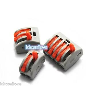 WAGO-Spring-Lever-Push-Fit-Reuseable-Cable-2-3-5-Wire-Pole-Insulating-Connector