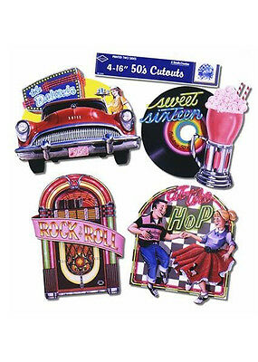 1950s Party Diner Cut Out Decorations