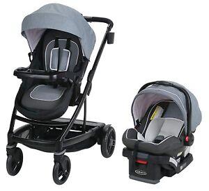 Graco-Baby-UNO2DUO-Travel-System-Stroller-w-SnugLock-35-Infant-Car-Seat-Hazel