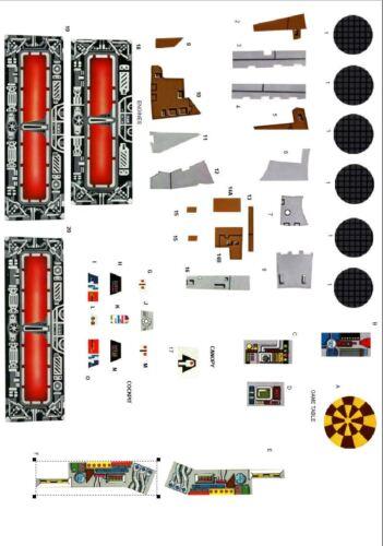 Vintage remplacement Millennium Falcon autocollants//étiquettes