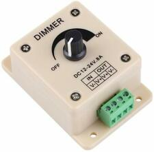 Dimmer Switch LED Lighting Controller 600W Mounted Bulb 1 Gang Knob Brightness