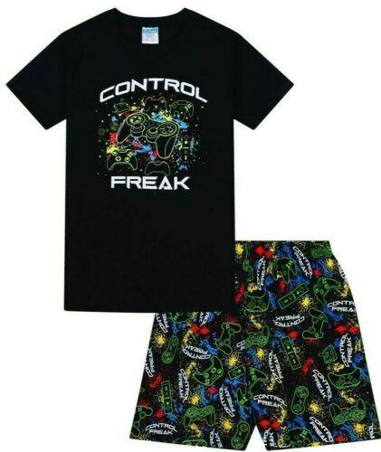 Control Freak Gaming Short Cotton Boys Gaming Pyjamas Pj Pjs Boy/'s