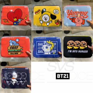 BTS-BT21-Official-Authentic-Goods-13-034-Laptop-Sleeve-BITE-Ver-Tracking-Number