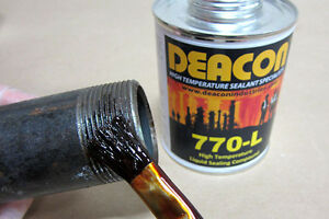 Deacon 770-L (Pint Brush Top) High Temperature Liquid Sealant, 200°F to 950°F