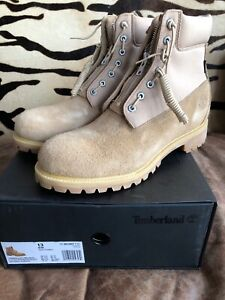 WP Boot Natural Nubuck Zip Sz 13