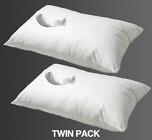 Offre-Speciale-2X-plume-de-canard-Qualite-Hotel-Oreillers-Extra-rempli-FREE-POST