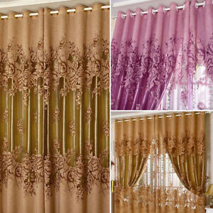 Pivoine modèle voile rideaux salon de la fenêtre rideau de Tulle Sh ...