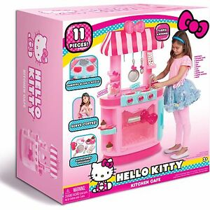 Image Is Loading Hello Kitty Kitchen Cafe Pretend Play Toy