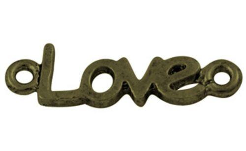 10 DIY Shamballa Link Links Zwischenstück Unendlichkeit Verbinder Bracelet love