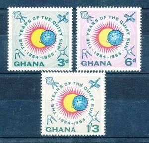 Qualifié 558821) Ghana Nº 185-7 A ** Spatiale-afficher Le Titre D'origine Toujours Acheter Bien