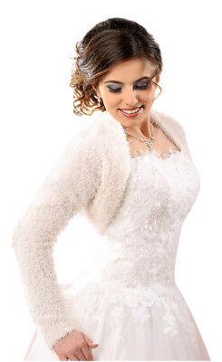 Bolerojacke Jacke Bolero Brautbolero mit Stehkragen f/ür Hochzeit Hochzeitskleid Brautkleid Satin 3//4 /Ärmel gerafft
