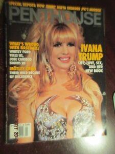 VINTAGE-1992-PENTHOUSE-MAGAZINE-back-issue-IVANA-TRUMP-Life-love-Sex-Motley-Crue
