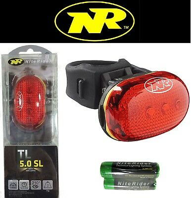 Niterider TL-5.0 SL LED Bike Tail Light Red Rear Flash 100hr 210deg Side Lights