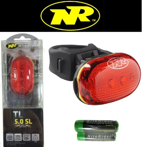 Side Lights Niterider TL-5.0 SL LED Bike Tail Light Red Rear Flash 100hr 210deg