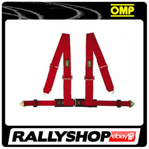 OMP-Racing-4M-Point-Harness-Road-Red-ECE-CHEAP-DELIVERY-Harness-Belts