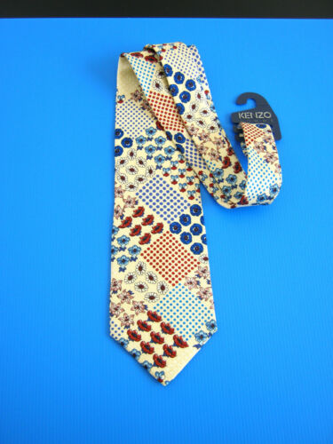 New Idea Cravatta Paris 100 Originale Regalo Silk Seta Tie Kenzo Nuova Iq6wS4IP