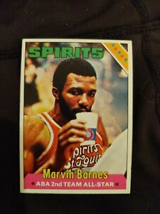 1975 Topps Marvin Barnes rookie basketball card #252 spiritsof St. Louis  EX