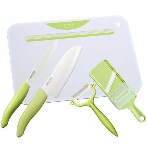 Kyocera Kitchen Set Ceramic Knife Fruit Knife Peeler Slicer Kitchen Board vert