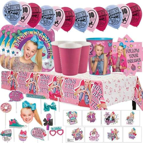 Cups, Napkins JoJo Siwa MEGA Birthday Party Pack for 16 with Plates