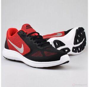 Nike Revolution 3 University Red Metallic Silver running training 819300-600