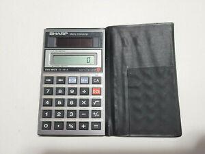 Sharp ELSI MATE EL-344A Metric Converter Solar Calculator w/ Case – Tested/Works