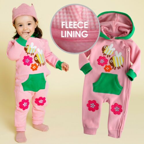 "Vaenait Baby Clothes Girls Fleece Hoodie Jumpsuit Outwear /""Bee Pink/"" 6-24M"