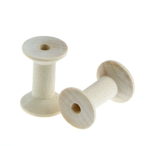 10PCs Empty Wooden Bobbin Spools For Thread Wire Needlework 47mmx31mm ZN