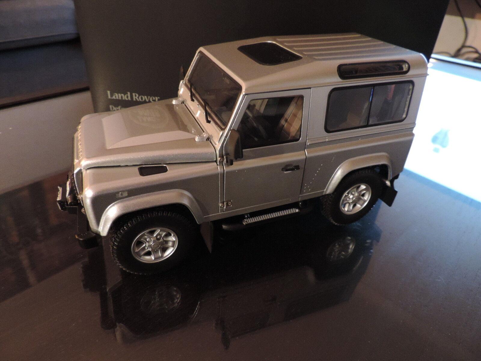 Land Rover Rover Rover Defender 90 au 1/18 Kyosho gris Indus Silver rare   Fiable Réputation  b493cf