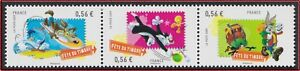 2009-FRANCE-N-4338-4340-Tryptique-Looney-Tunes-Fete-du-timbre-2009-France-MNH
