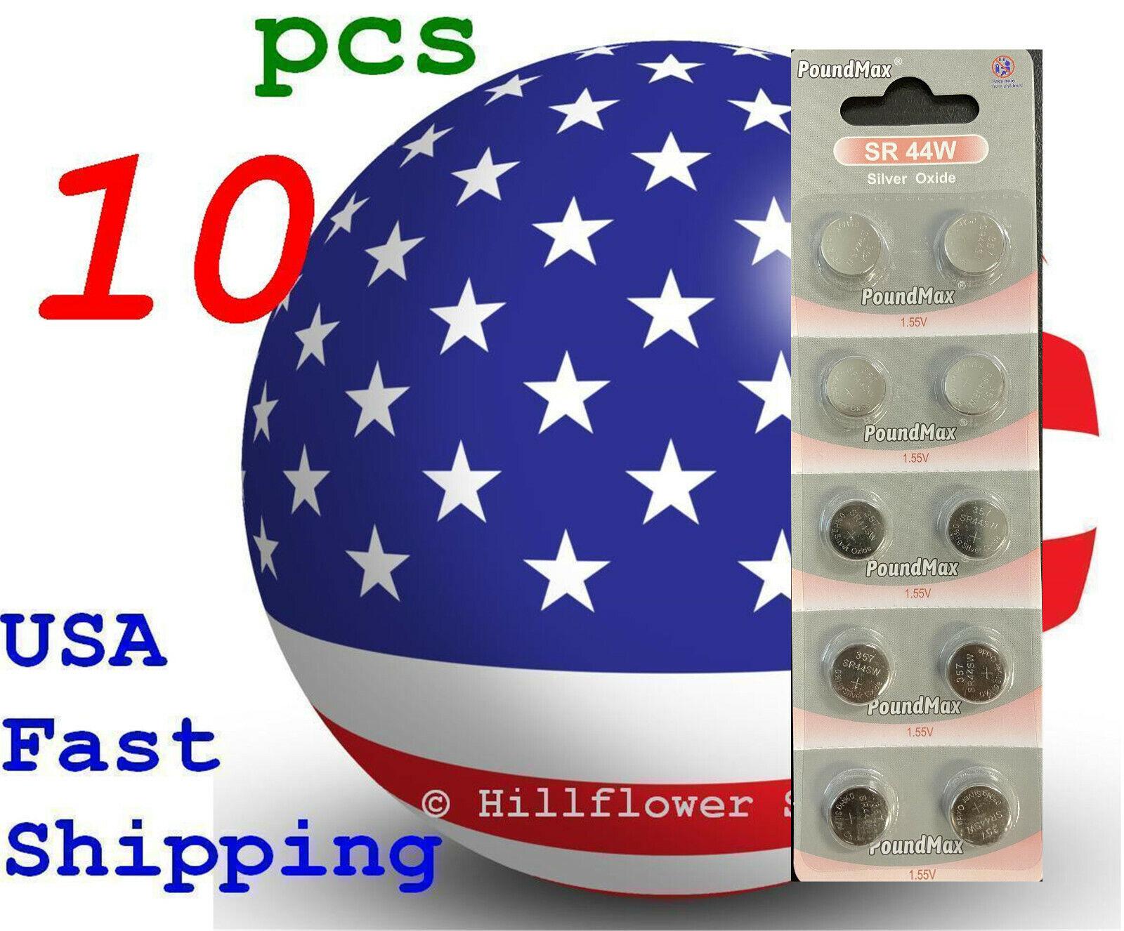 10 pcs SR44 SR44SW 303 357 G13 357A SR44W Card Silver Oxide Battery