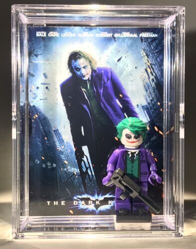Dark Knight Batman JokerCustom Mini Action Figure w Display Case Mini-fig 188