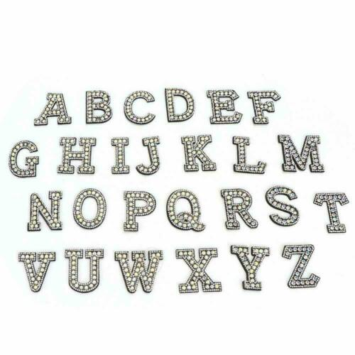 26Pcs Letter Rhinestone Iron-on Patches For Clothing Shoe Bag Applique Sewing
