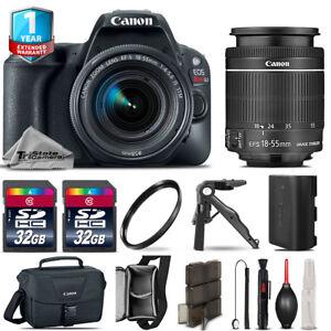 Canon EOS Rebel SL2 DSLR Camera + 18-55mm STM + 1yr Warranty - 64GB Kit Bundle 686437382652