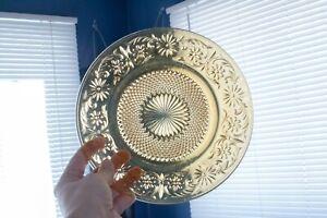 VTG-8-5-034-Indiana-Glass-Amber-Daisy-Tiara-Salad-Plates-Antique-Glass-Dinnerware
