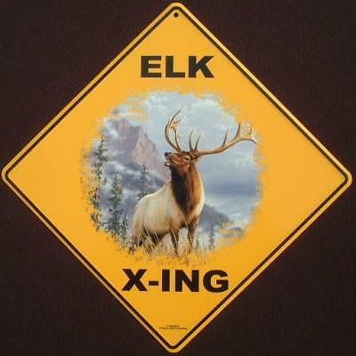 ELK CROSSING Sign 16 1//2 by 16 1//2 NEW decor hunting animals novelty signs  art