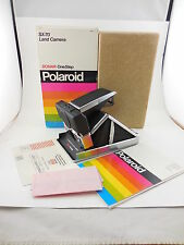 Polaroid SX-70 Sonar OneStep Land Camera Stainless Black New in Boxed UNUSED