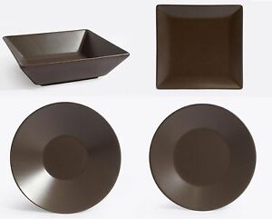 Chocolate-porcelain-rectangular-square-round-dinner-plates-bowls