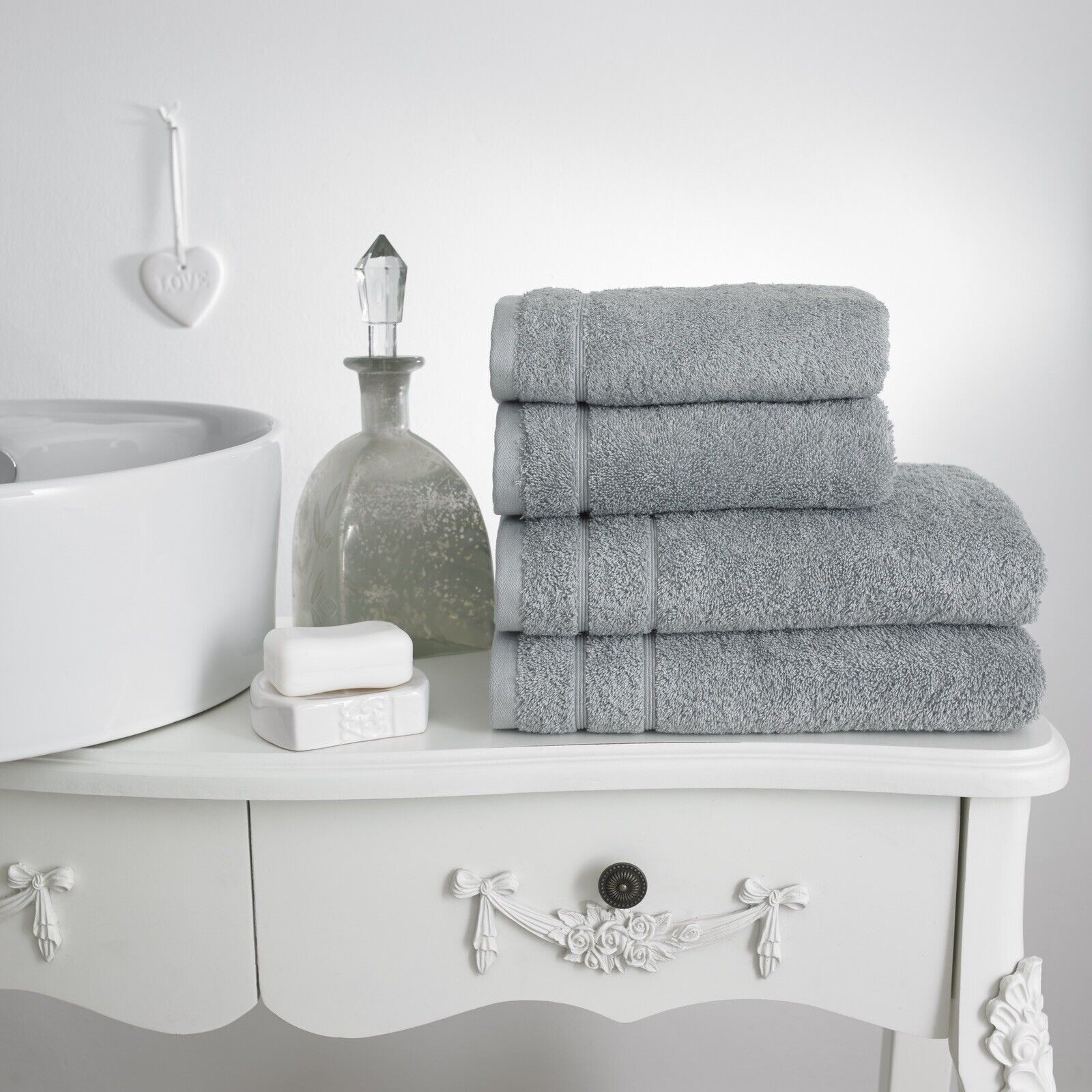 1 Pair Of Luxury Hand Towels 600gsm Combed Cotton Towels