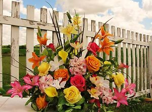 Day-Lily-Silk-Church-Arrangements-Wedding-Roses-Altar-Vases-Receptions-Cemetery