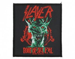 SLAYER-root-of-all-evil-2007-WOVEN-SEW-ON-PATCH-official-no-longer-made