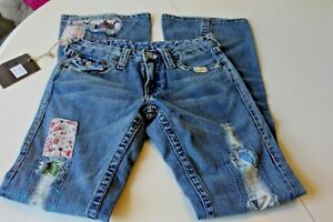 NWT-TRUE-RELIGION-JEANS-Women-039-s-Woodstock-U-S-A-Patch-034-Rare-034-Jeans-Size-26