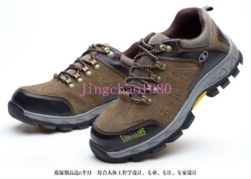 Hot Outdoor Mens Safety shoes Steel Toe Hiking Climbing Breathable Work Boots Ch