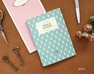 New Iconic A6 Weekly Planner Scheduler Organizer Journal (27 weeks) - Mint